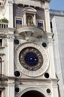 Venice, Italy - Clock Tower with signs of the Zodiac