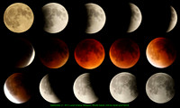 Supermoon and Lunar Eclipse 2015 sequence